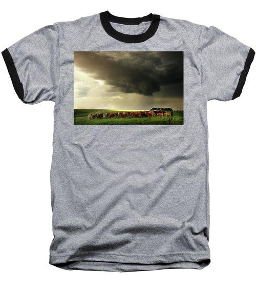 Field Of Beams Baseball T-Shirt