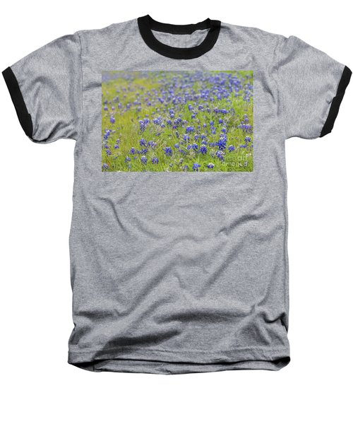 Field Of Blue Bonnet Flowers Baseball T-Shirt