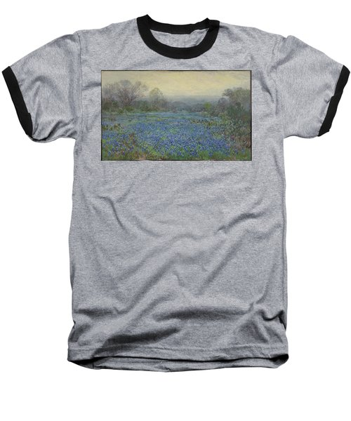 Field Of Bluebonnets Baseball T-Shirt