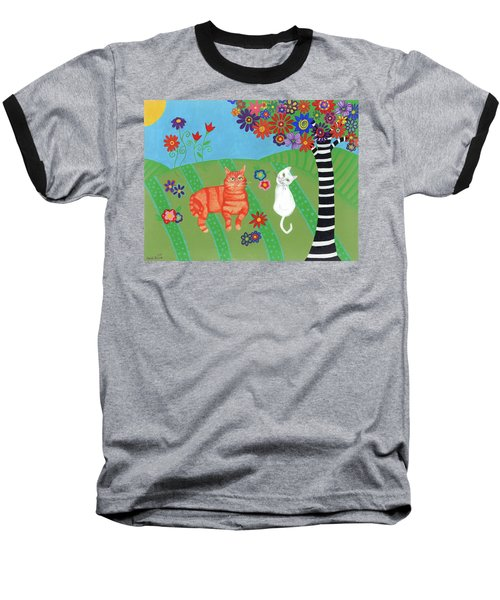 Kitty Cat Meadows Baseball T-Shirt