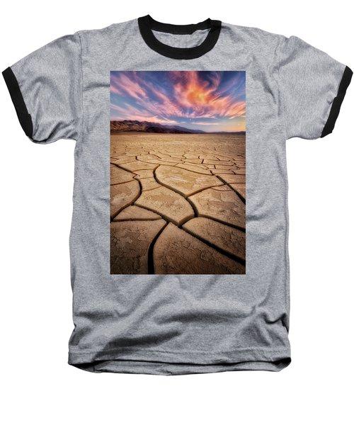 Field Of Cracks Baseball T-Shirt by Nicki Frates
