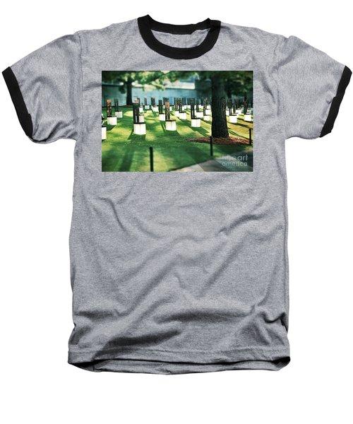 Field Of Empty Chairs Baseball T-Shirt