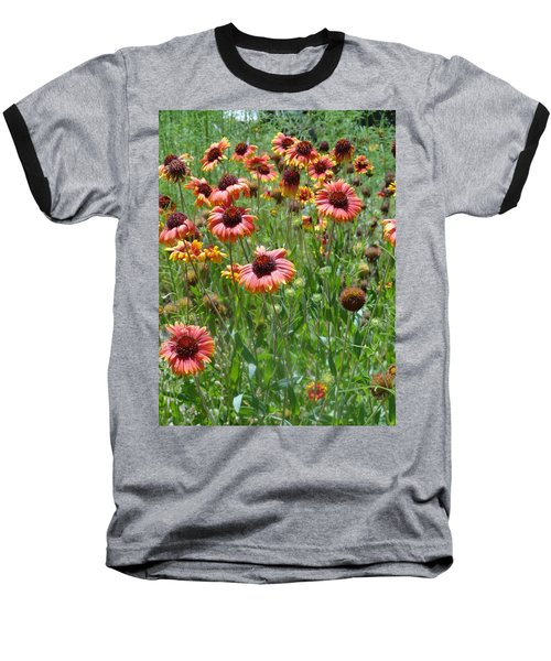 Field Of Flower Eyes Baseball T-Shirt