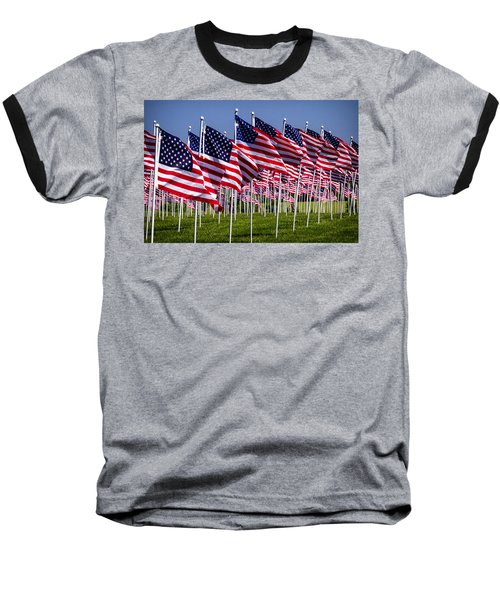 Field Of Flags For Heroes Baseball T-Shirt