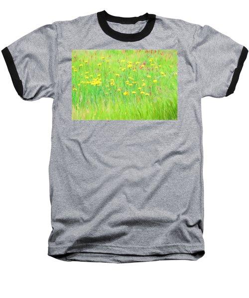 Field Of Flowers Baseball T-Shirt