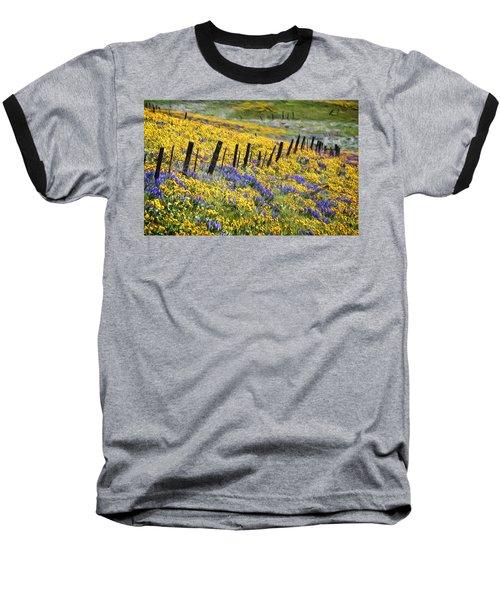 Field Of Gold And Purple Baseball T-Shirt