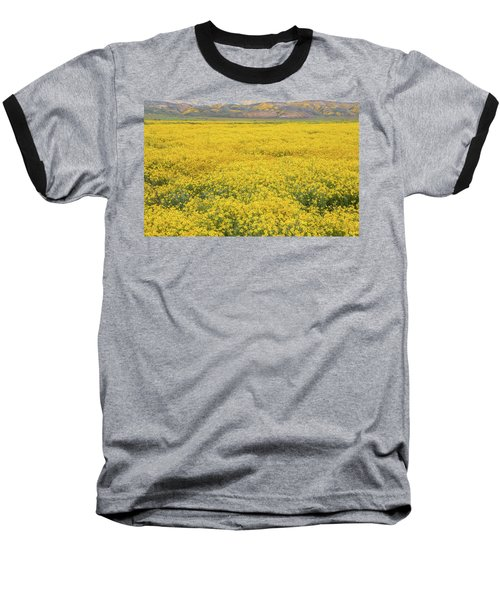 Baseball T-Shirt featuring the photograph Field Of Goldfields by Marc Crumpler