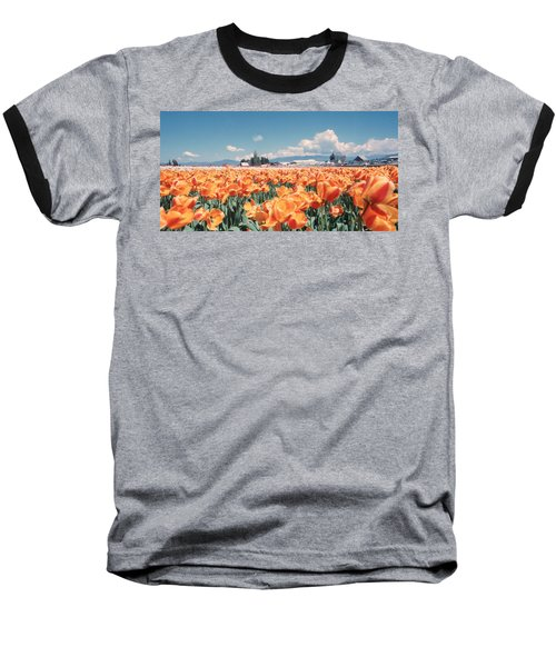 Field Of Orange Baseball T-Shirt