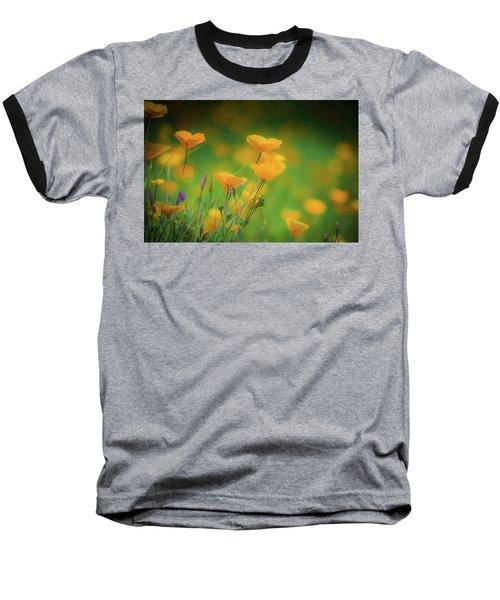 Field Of Poppies Baseball T-Shirt