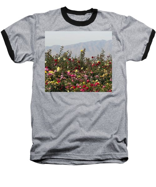 Baseball T-Shirt featuring the photograph Field Of Roses by Laurel Powell