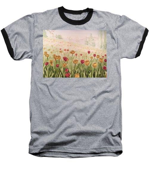Field Of Tulips Baseball T-Shirt by Kayla Jimenez