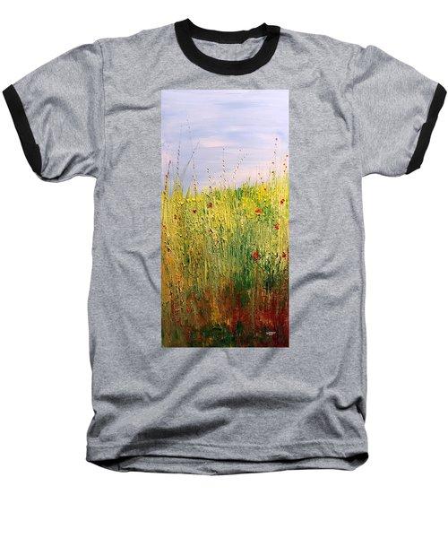 Field Of Wild Flowers Baseball T-Shirt