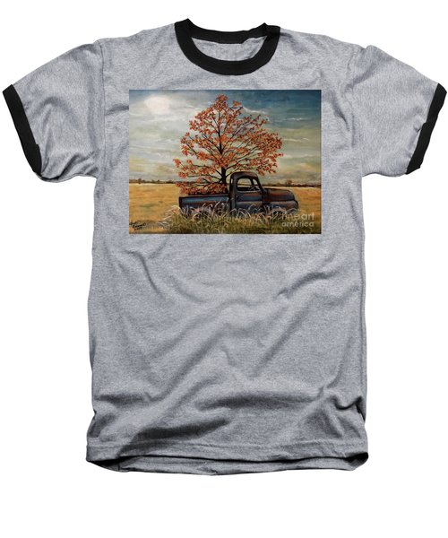 Field Ornaments Baseball T-Shirt by Judy Kirouac