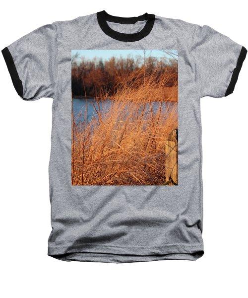 Amber Brush On The River Baseball T-Shirt