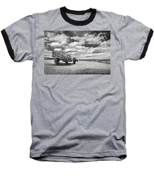 Fields And Clouds Baseball T-Shirt