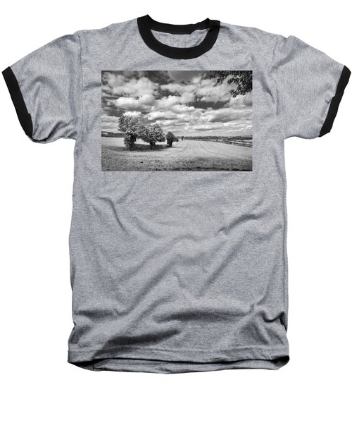 Fields And Clouds Baseball T-Shirt