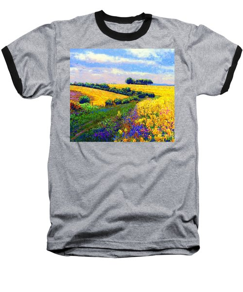 Baseball T-Shirt featuring the painting Fields Of Gold by Jane Small