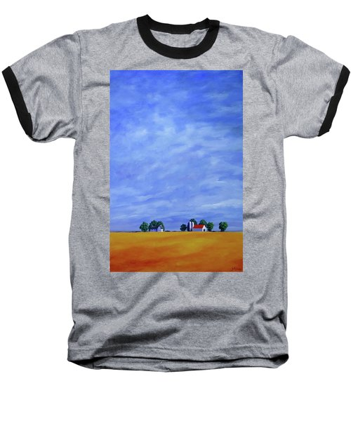 Baseball T-Shirt featuring the painting Fields Of Gold by Jo Appleby