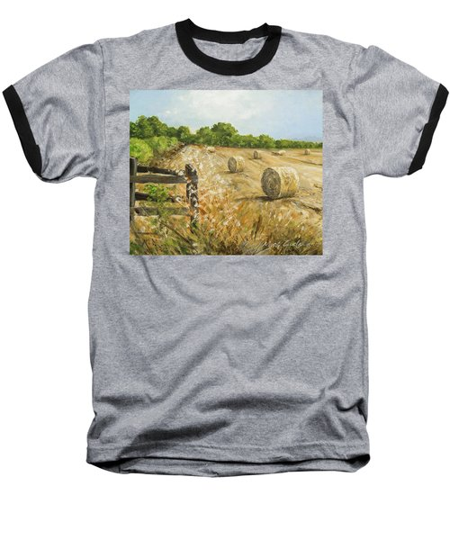 Fields Of Hay Baseball T-Shirt by Marty Garland
