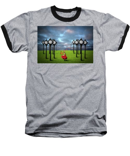 Fields Of Time Baseball T-Shirt by Nathan Wright