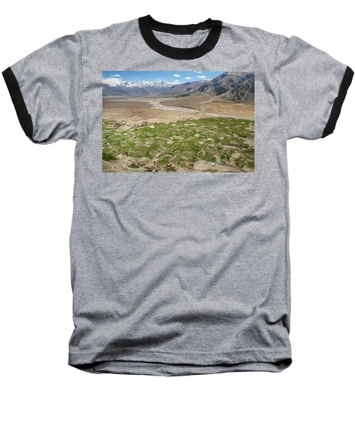 Baseball T-Shirt featuring the photograph Fields Of Zangla, Zanskar, 2008 by Hitendra SINKAR