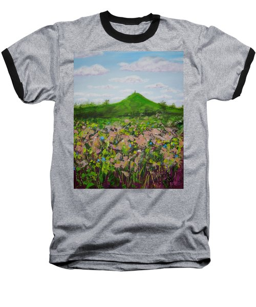 Fields To Glastonbury Tor Baseball T-Shirt