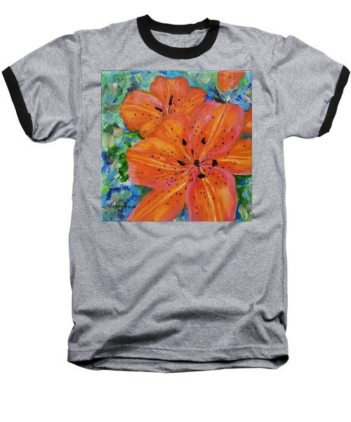 Baseball T-Shirt featuring the painting Fierce Tiger by Judith Rhue