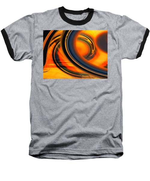 Fiery Celestial Rings  Baseball T-Shirt by Shawna Rowe