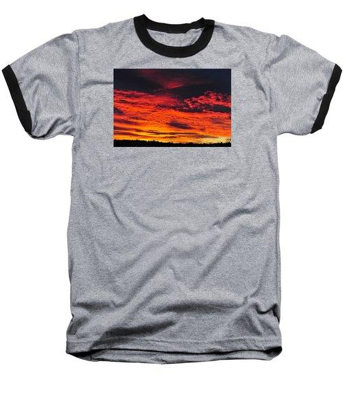 Fiery Close Of Day Baseball T-Shirt