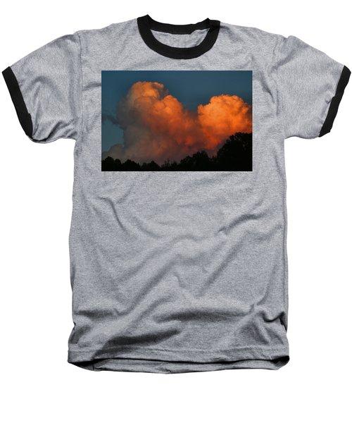 Fiery Cumulus Baseball T-Shirt by Kathryn Meyer