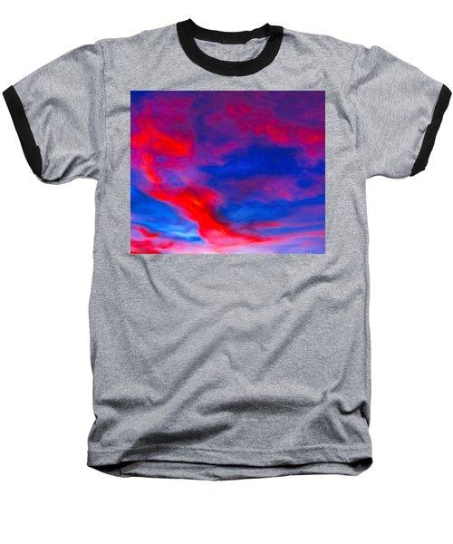 Fiery Dragon Floating Baseball T-Shirt