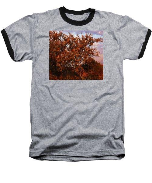 Baseball T-Shirt featuring the digital art Fiery Elm Tree  by Shelli Fitzpatrick