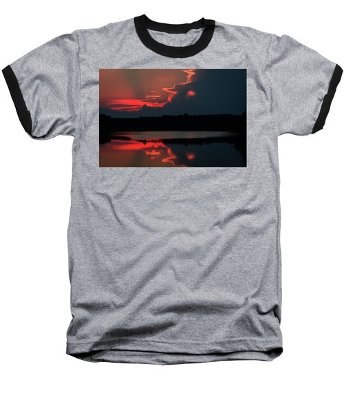 Fiery Evening Baseball T-Shirt