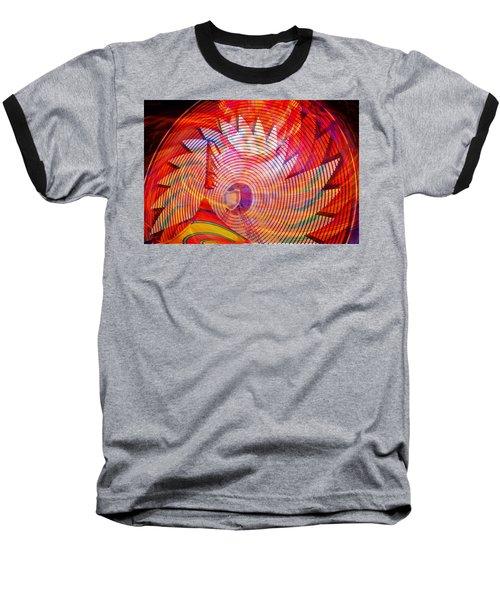Baseball T-Shirt featuring the photograph Fiery Ferris Wheel by David Lee Thompson