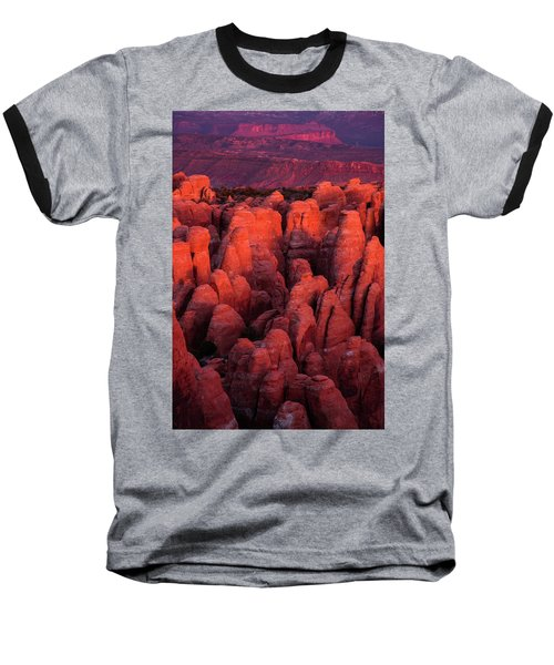 Baseball T-Shirt featuring the photograph Fiery Furnace by Dustin LeFevre