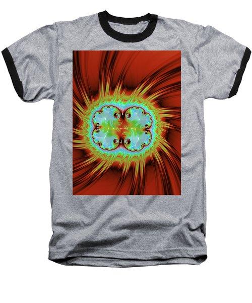 Fiery Glow Baseball T-Shirt by Rajiv Chopra