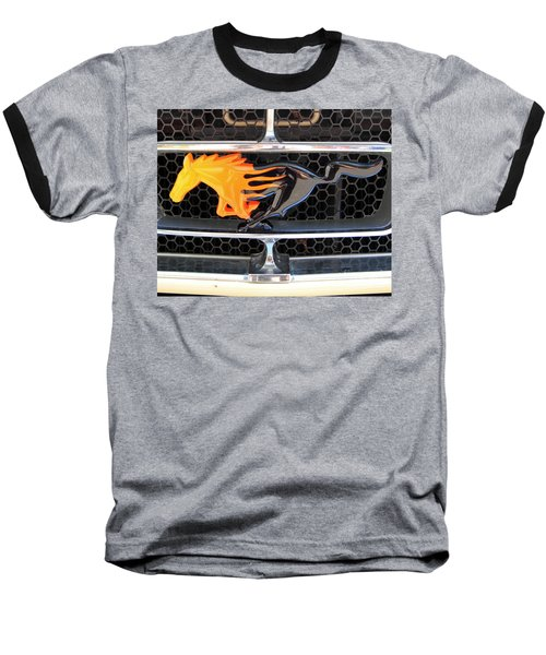 Fiery Mustang Baseball T-Shirt
