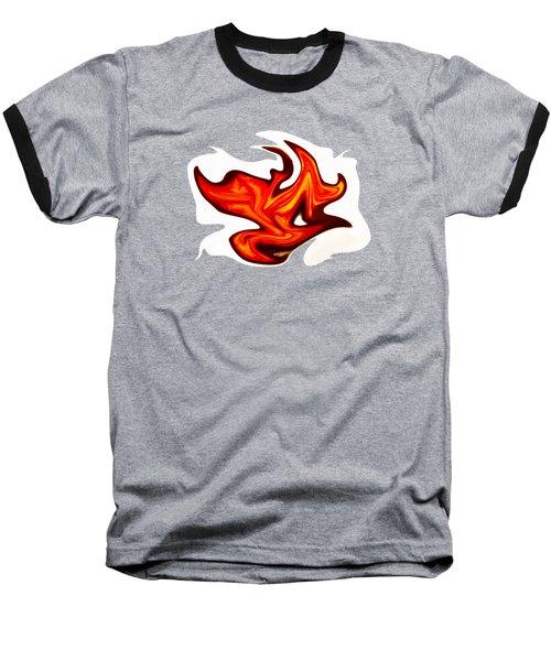 Fiery Orange Transparency Baseball T-Shirt