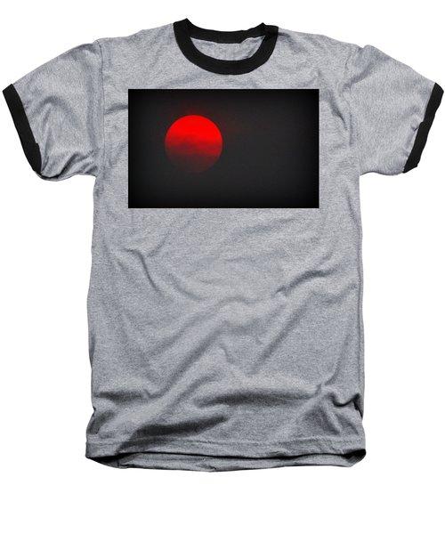 Baseball T-Shirt featuring the photograph Fiery Sun by AJ Schibig