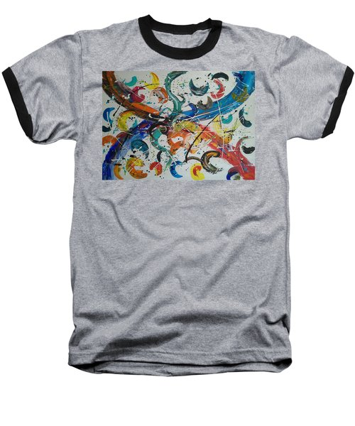 Fiesta White Baseball T-Shirt