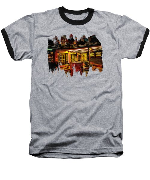 Fifth Street Public Market Baseball T-Shirt by Thom Zehrfeld