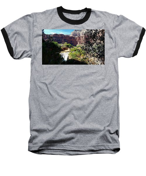 Fifty Falls And Havasupai Falls Havasupai Indian Reservation Baseball T-Shirt by Joseph Hendrix