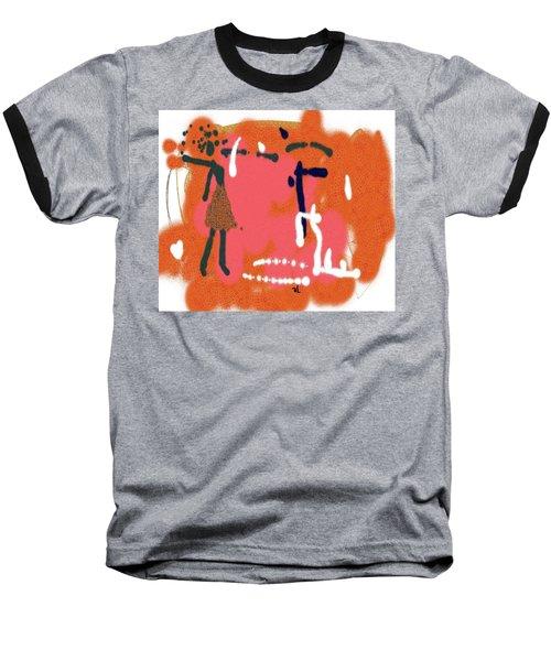 Fight Baseball T-Shirt by Sladjana Lazarevic