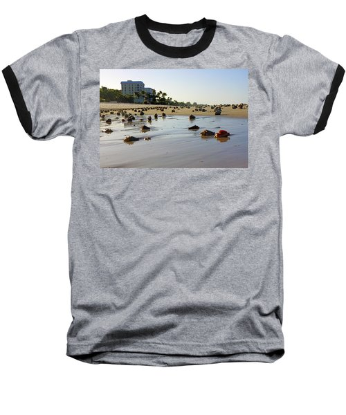 Fighting Conchs At Lowdermilk Park Beach In Naples, Fl  Baseball T-Shirt