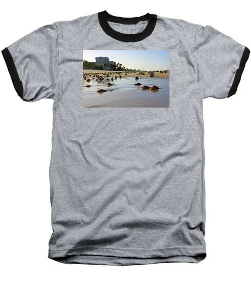 Fighting Conchs At Lowdermilk Park Beach In Naples, Fl  Baseball T-Shirt