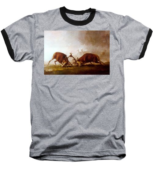 Fighting Stags II. Baseball T-Shirt