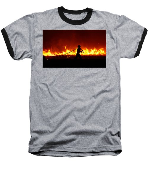 Fighting The Fire Baseball T-Shirt