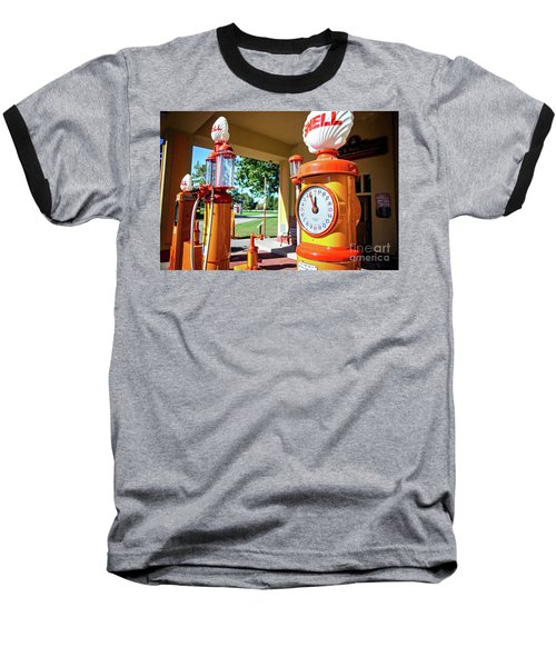 Fillin' Station Baseball T-Shirt by Randall Cogle