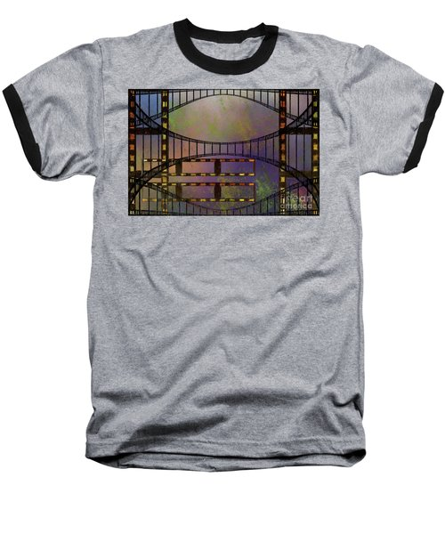 Baseball T-Shirt featuring the mixed media Film Is Dead by Jim  Hatch