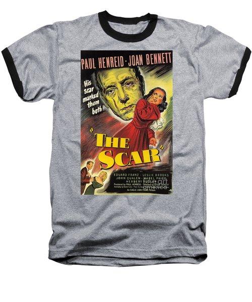 Film Noir Poster  The Scar Baseball T-Shirt